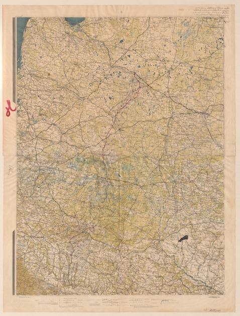 Diariusz preliminarzy pokojowych w Rydze - mapa, 8. X. 1920 r.