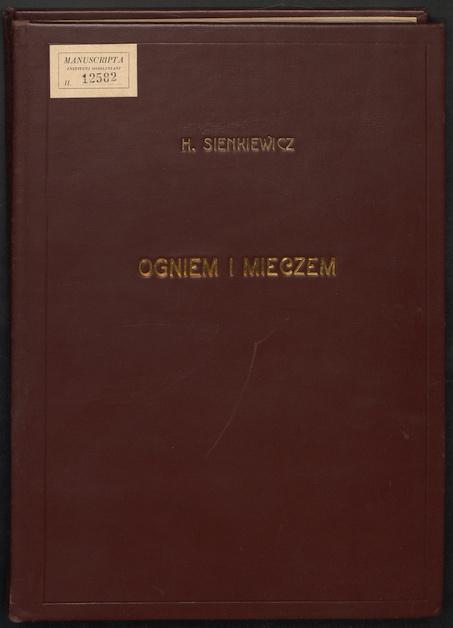 """""""Ogniem i mieczem"""" H. Sienkiewicza - okładka"""
