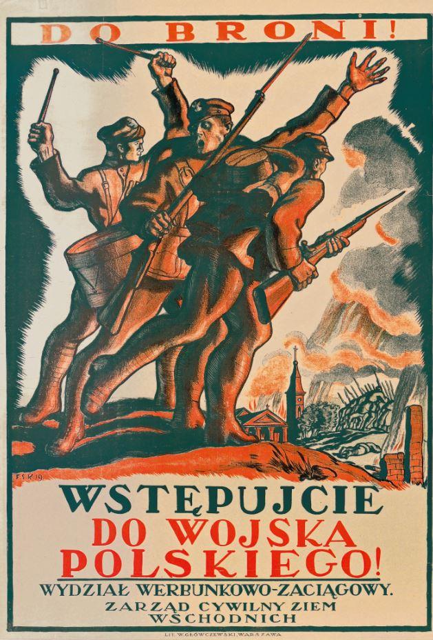 Plakaty Z Okresu Wojny Polsko Bolszewickiej Pamięć Polski