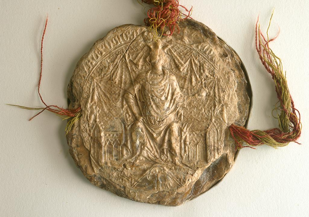 Pieczęć z dokumentu króla Kazimierza Wielkiego dla biskupa ormiańskiego Grzegorza we Lwowie z 4 lutego 1367 r.