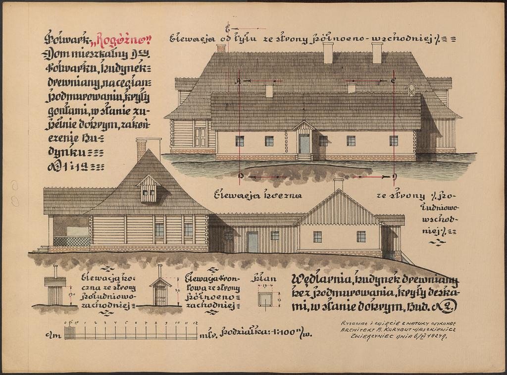 Plany na folwarku Rogoźno
