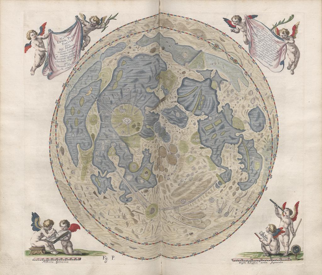 Dzieła Heweliusza - rysunek kuli ziemskiej