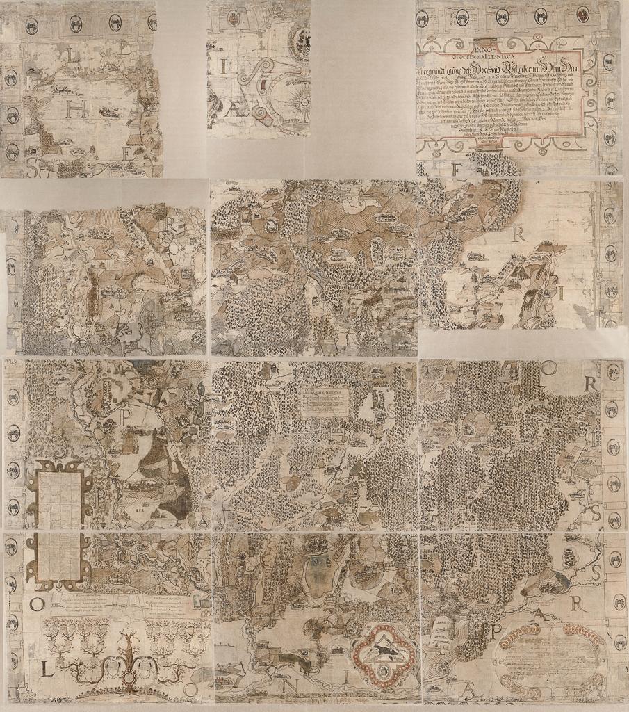 Mapa Księstwa Pszczyńskiego