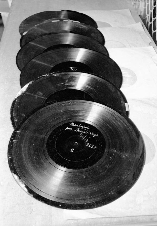 Kolekcja płyt gramofonowych Polskiego Radia z września 1939 roku