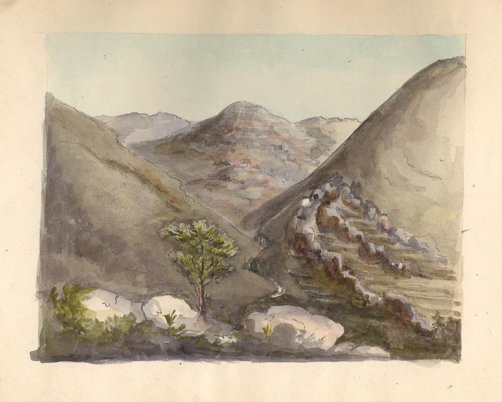 Rekopisy J. Słowackiego - rysunek gór